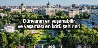 Dünyanın en yaşanabilir şehirleri: viyana birinci İstanbul 130. sırada
