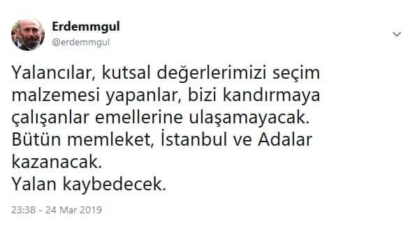 Erdem Gül: Yalan kaybedecek istiklal marşı