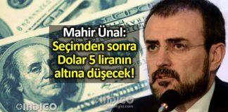 Mahir Ünal: Seçimden sonra dolar 5 liranın altına düşecek