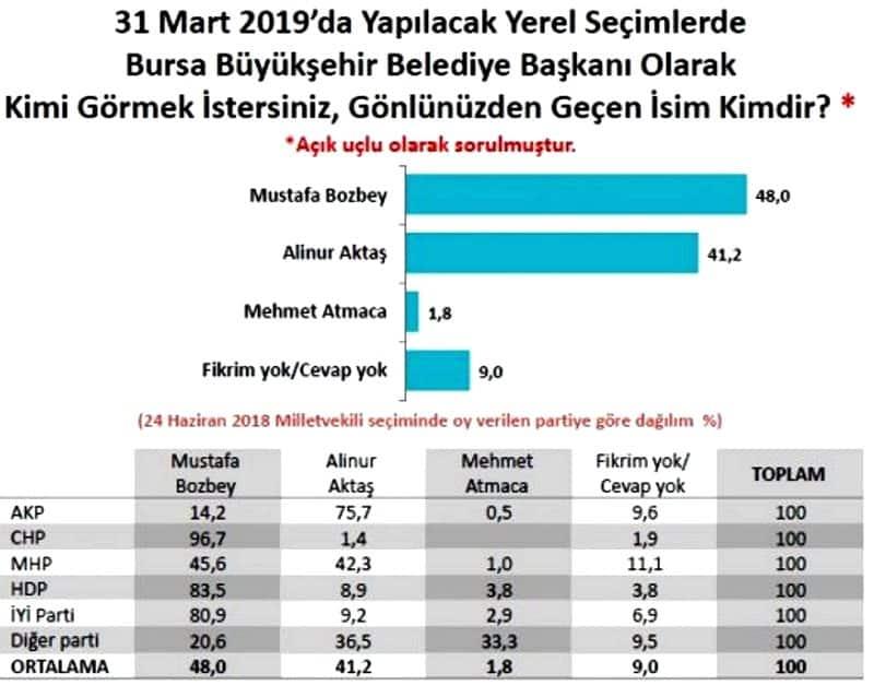 Metropoll Araştırma Bursa seçim anketi