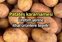 Patates kararnamesi: Üretim yerine ithal ürünlere teşvik!