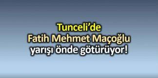 Tunceli TKP adayı Fatih Mehmet Maçoğlu önde!
