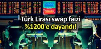Türk Lirası (TL) swap faizi yüzde 1200