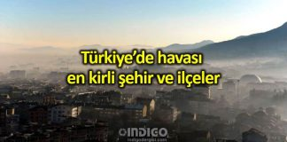 Türkiye'de havası en kirli şehirler ve ilçeler