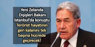 Yeni Zelanda Dışişleri Bakanı İstanbul da konuştu
