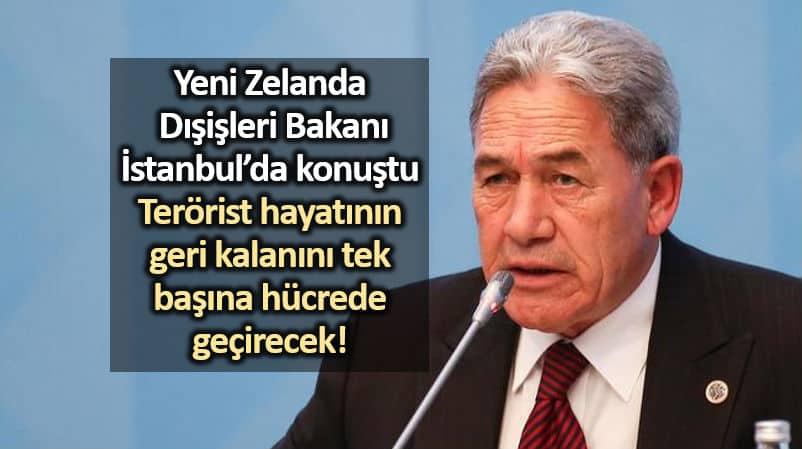 Yeni Zelanda Dışişleri Bakanı Winston Peters İstanbul da konuştu