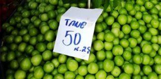 1 adet erik 50 kuruş, kilosu 40 lira!