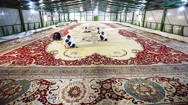 120 yıllık yekpare halı süfere salonu dolmabahçe sarayı