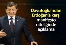 Ahmet Davutoğlu: erdoğan Cumhurbaşkanlığı toplumun yarısı ile kopuş yaşıyor