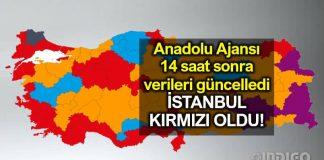 Anadolu Ajansı verileri güncelledi: Ekrem İmamoğlu kazandı!