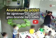 Anaokulunda şiddet: öğretmen Çocukların gözü önünde darp edildi