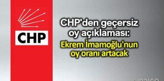 CHP canan kaftancıoğlu istanbul geçersiz oy açıklaması: Ekrem İmamoğlu oy oranı artacak
