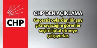 CHP İstanbul da seçim iptal başvurusu hakkında açıklama