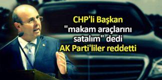 CHP kırşehir belediye başkanı selahattin ekicioğlu makam araçlarını satalım dedi, AK Parti reddetti