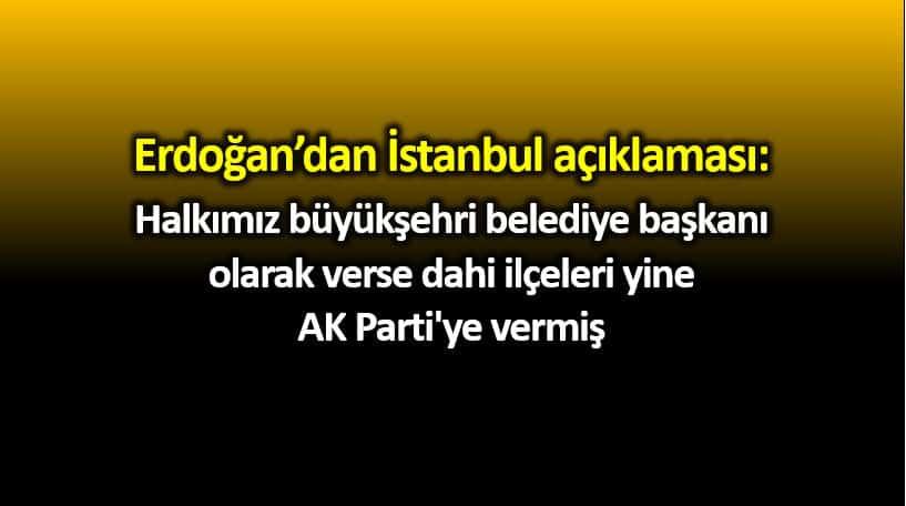 Erdoğan balkon konuşmasında İstanbul ve Ankara açıklaması