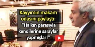 Diyarbakır Büyükşehir Belediye Başkanı selçuk Mızraklı, kayyımın makam odasını paylaştı