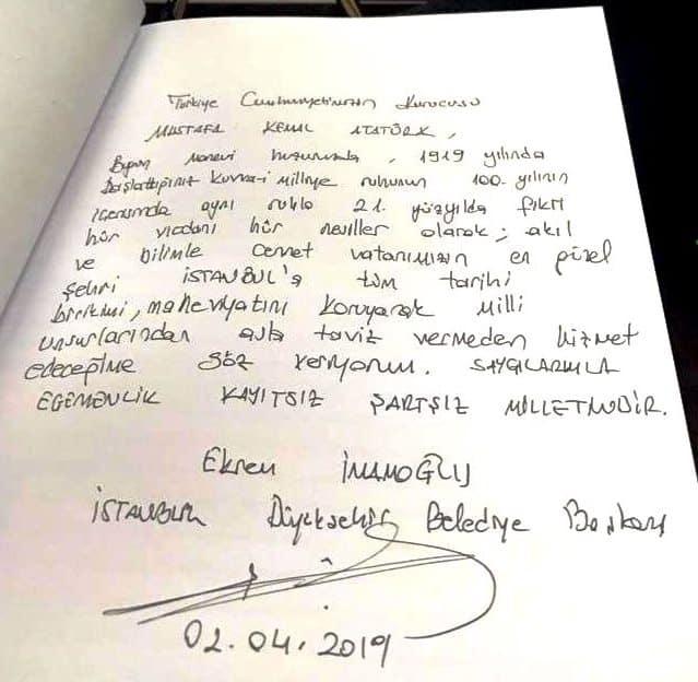 ekrem imamoğlu anıtkabir özel defteri imzaladı