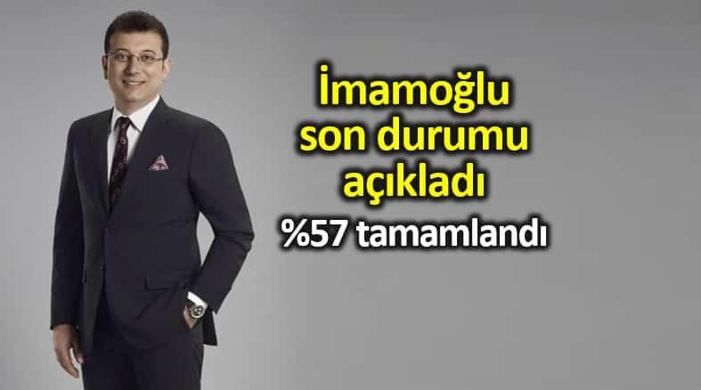 Ekrem İmamoğlu İstanbul son durumu açıkladı