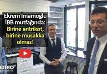 Ekrem İmamoğlu mutfakta: Birine antrikot, birine musakka olmaz!
