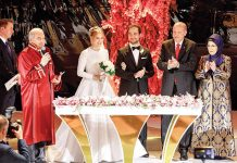 Erdoğan ailesi, Demirören - Kalyoncu çiftinin nikah şahidi oldu