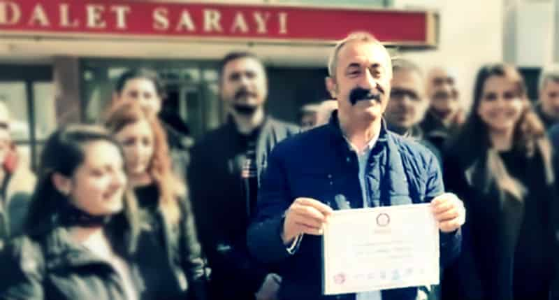 fatih mehmet Maçoğlu mazbatasını aldı; Tunceli Belediyesi nin borcunu açıkladı
