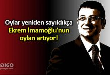 Geçersiz oylar yeniden sayıldıkça Ekrem İmamoğlu nun oyları artıyor!