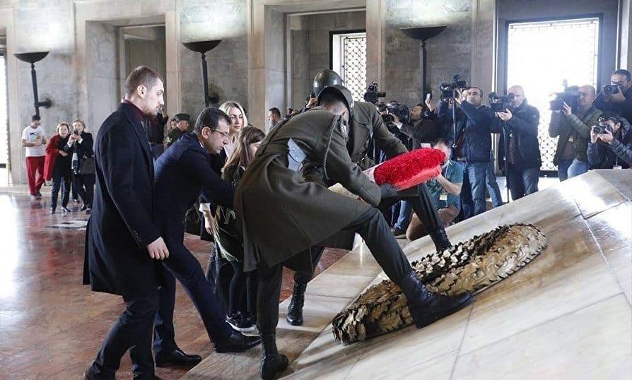 Ekrem İmamoğlu Anıtkabir'de Atatürk'ün huzurunda