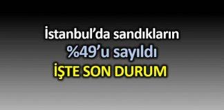 İstanbul sandıkların yüzde 49 u sayıldı: İşte son durum!