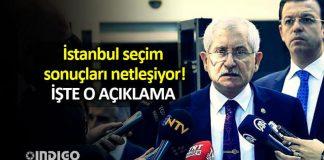 İstanbul seçim sonuçları netleşiyor! ysk açıklama!