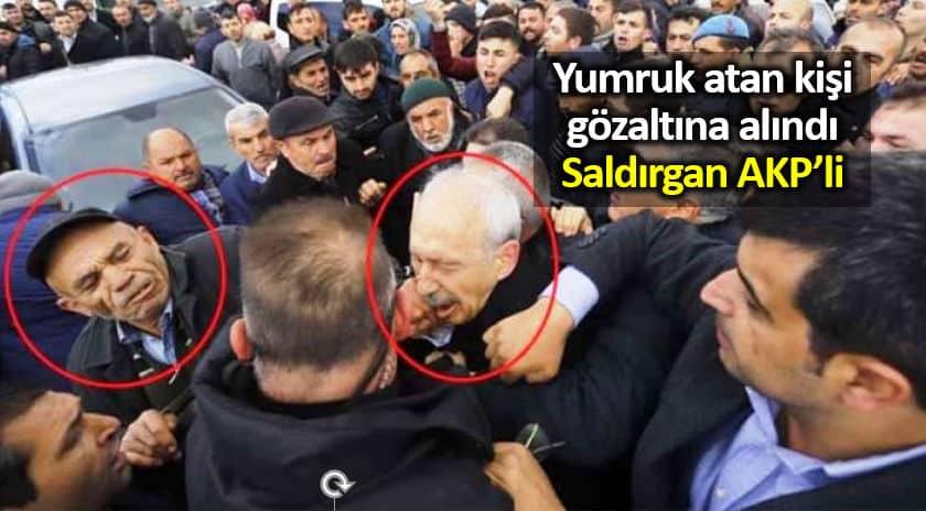 Kılıçdaroğlu na yumruk atan Osman Sarıgün gözaltına alındı