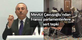 mevlüt Çavuşoğlu Fransız parlamentere sert tepki: fransa Cezayir de Ruanda da yaptıklarınıza bakın!