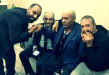 Serbest bırakılan Osman Sarıgün tebrikleri kabul ediyor