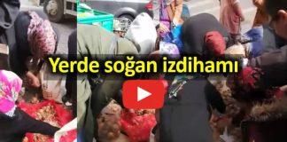 Şok Market yerde soğan izdihamı - Video