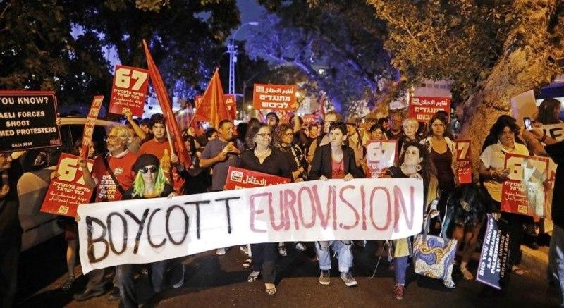 Eurovision İsrail Filistin için boycott filistin gazze