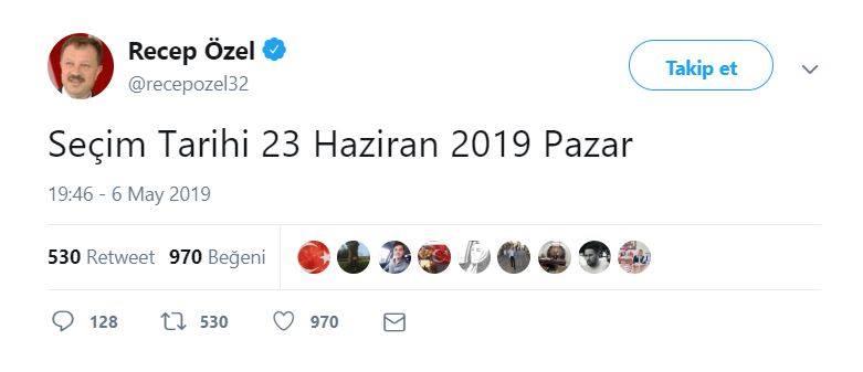 İstanbul'da yeniden seçim tarihi ne zaman?