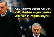 Adil Gür: YSK ateşten kızgın demiri AK Parti nin kucağına koydu!