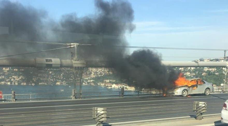 boğaziçi köprüsü araç yangını intihar iddiası