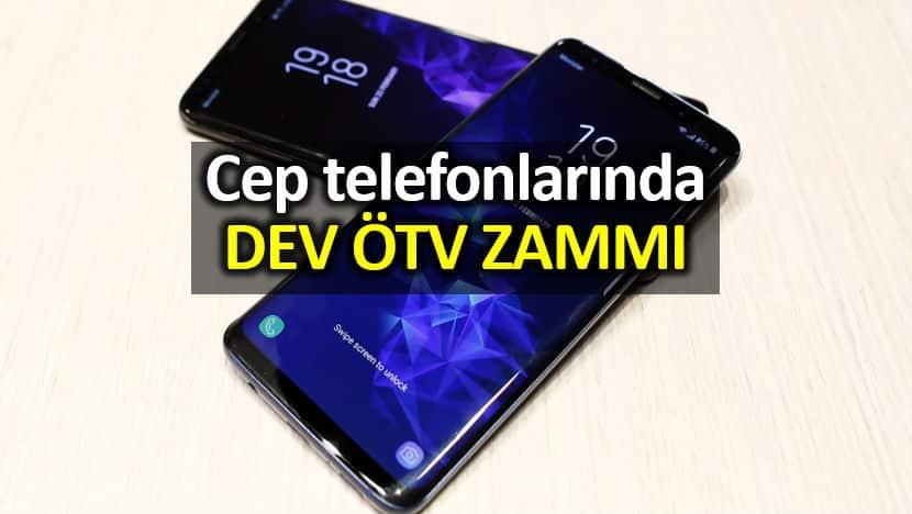 Cep telefonlarında dev ÖTV zammı: Fiyatlar artacak!