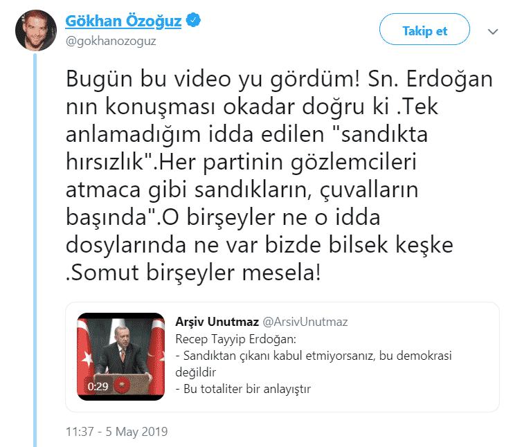 athena gökhan özoğuz erdoğan istanbul seçim sonuçları twitter paylaşımı