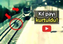 İntihar etmek için Marmaray'a atlayan kadını vatandaş kurtardı