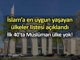 İslam a en uygun yaşayan ülkeler listesi: İlk 40 ta Müslüman ülke yok!