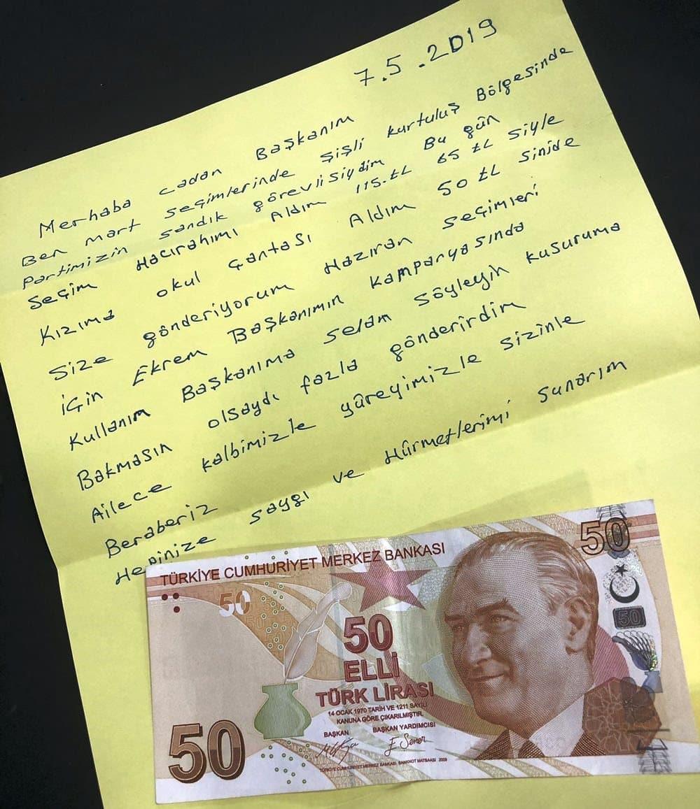 ekrem imamoğlu bağış 65 Liraya kızıma çanta aldım, üstünü gönderiyorum