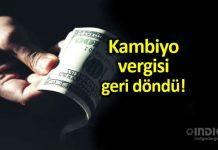 Kambiyo geri döndü: Döviz satışlarında binde 1 işlem vergisi