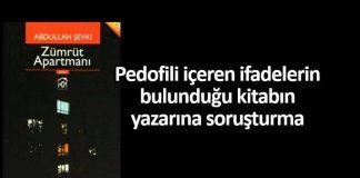 Pedofili içeren ifadelerin bulunduğu kitabın yazarına soruşturma
