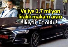 Samsun Valisi Osman Kaymak 1.7 milyon liralık makam aracı alındı