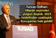 Tuncay Özilhan konuştu: TÜSİAD'dan seçim mesajları!