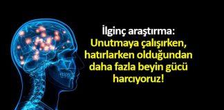 Unutmak, hatırlamaktan daha fazla beyin gücü harcatıyor!