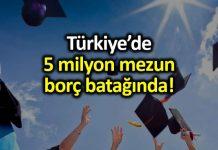5 milyon mezun borç batağında; 297 bin öğrenciye yasal işlem