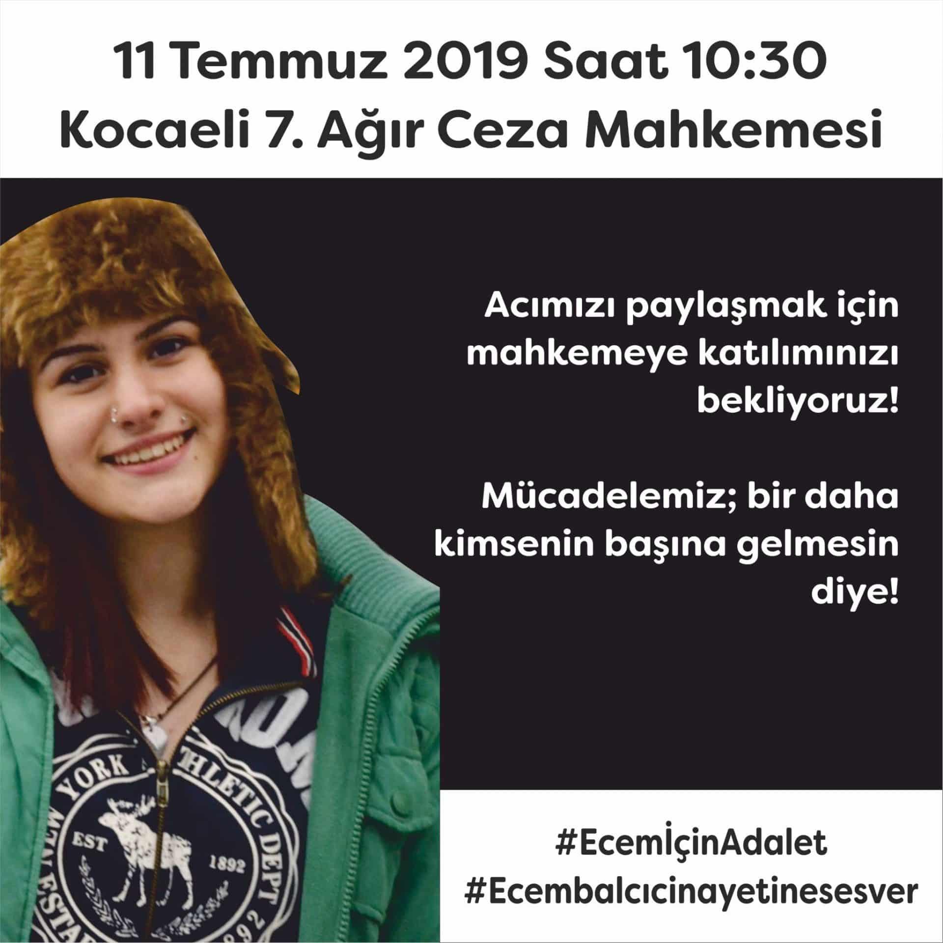 Ecem Balcı cinayetine ses ver!