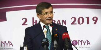 Ahmet Davutoğlu yeni partiye davet konuşması